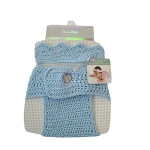 First Steps Crocheted Crown & Diaper Cover 0-6 M